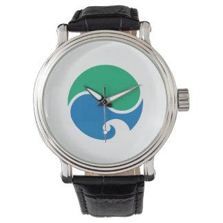 Hamamatsu city flag Shizuoka prefecture japan symb Wristwatches