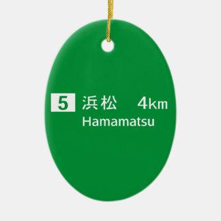 Hamamatsu, Japan Road Sign Ornaments