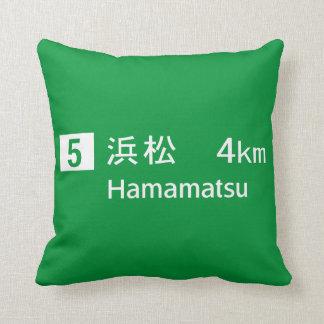 Hamamatsu, Japan Road Sign Pillow