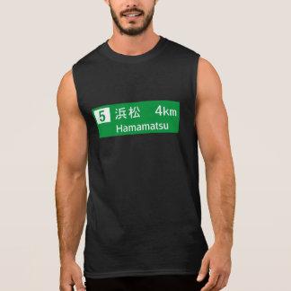 Hamamatsu, Japan Road Sign Sleeveless T-shirt