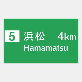 Hamamatsu, Japan Road Sign Rectangular Stickers