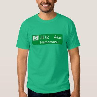 Hamamatsu, Japan Road Sign Tshirts