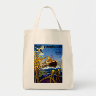 Hamburg America to South America Grocery Tote Bag