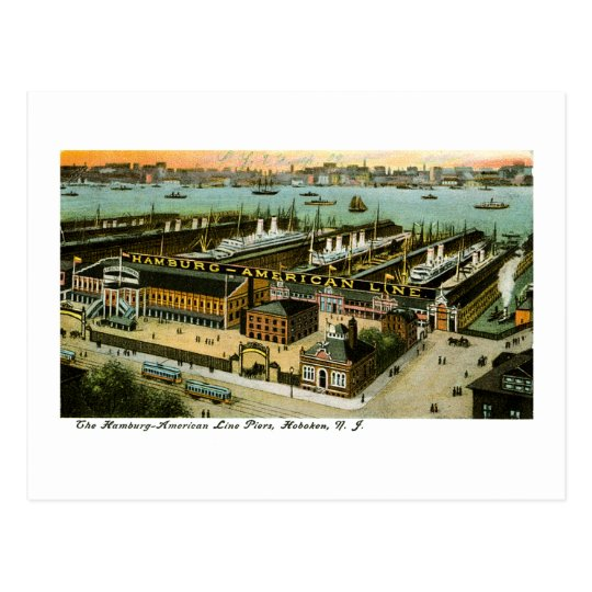 Hamburg-American Line, Hoboken, New Jersey Postcard