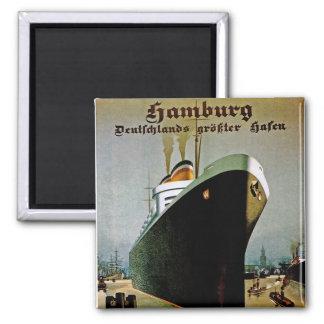 Hamburg-Amerika Line Fridge Magnet