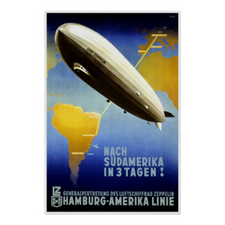 Hamburg Amerika Linie Hamburg America Line HAPAG Poster