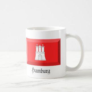 Hamburg Flag Gem Basic White Mug