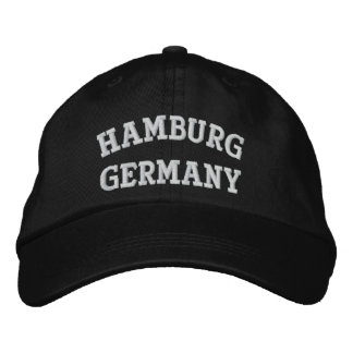Hamburg, Germany Embroidered Cap
