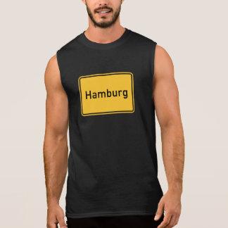 Hamburg, Germany Road Sign Sleeveless Shirt