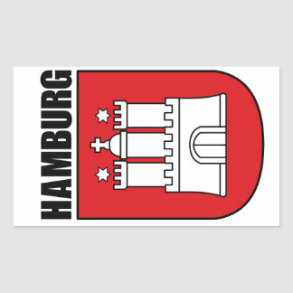 Hamburg (Hansestadt) Rectangular Sticker