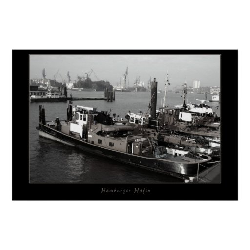 Hamburg harbour poster