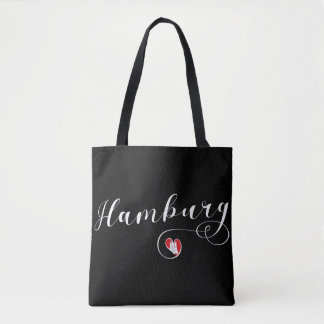 Hamburg Heart Grocery Bag, Germany Tote Bag