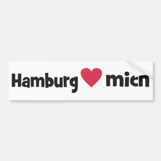 Hamburg loves me bumper sticker