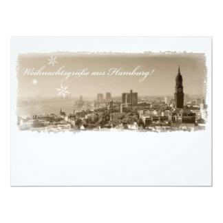 Hamburg Michel, Christmas greetings from Hamburg,  17 Cm X 22 Cm Invitation Card