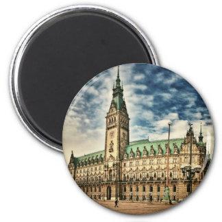 Hamburg Rathaus, Germany 6 Cm Round Magnet