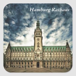 Hamburg Rathaus, Germany Square Sticker