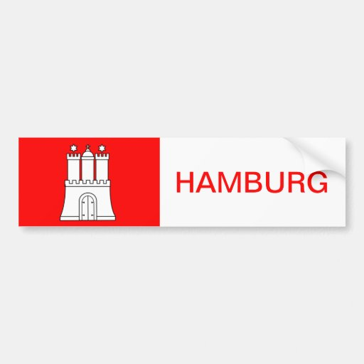 Hamburg sticker Sticker port autosticker car Bumper Stickers