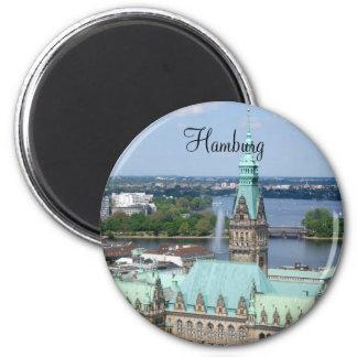 Hamburg Town Hall 6 Cm Round Magnet