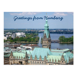 Hamburg Town Hall Postcard