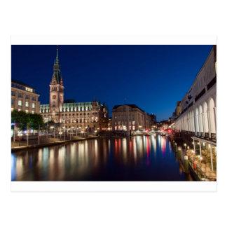 Hamburg Town hall Postcard