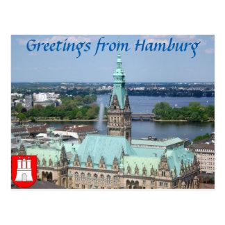 Hamburg Townhall Postcard