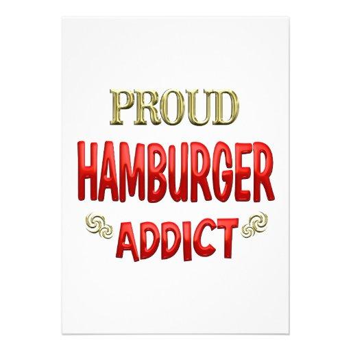 Hamburger Addict Personalized Announcements