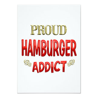 Hamburger Addict Personalized Announcements