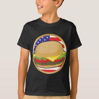 Hamburger American Flag T-Shirt