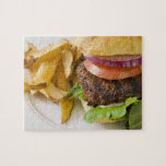 Hamburger and French Fries Jigsaw Puzzle