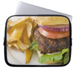 Hamburger and French Fries Laptop Computer Sleeve