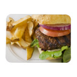 Hamburger and French Fries Magnet
