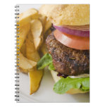 Hamburger and French Fries Notebooks