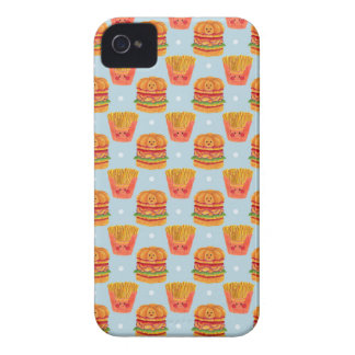 Hamburger and French Fries Pattern iPhone 4 Case-Mate Case