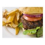Hamburger and French Fries Post Card