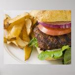 Hamburger and French Fries Print