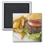Hamburger and French Fries Refrigerator Magnets