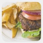 Hamburger and French Fries Sticker
