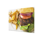 Hamburger and French Fries Stretched Canvas Prints