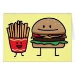 Hamburger and Fries Card