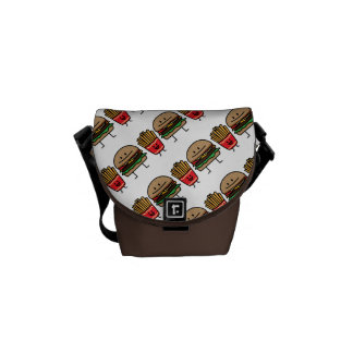 Hamburger and Fries Commuter Bags