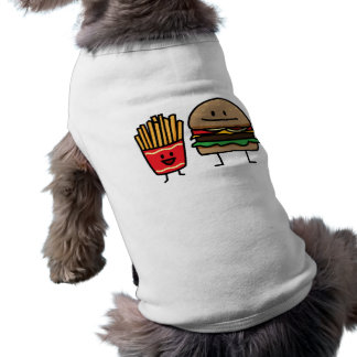 Hamburger and Fries fast food bun junk fried hot Shirt