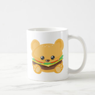 Hamburger Bear Basic White Mug