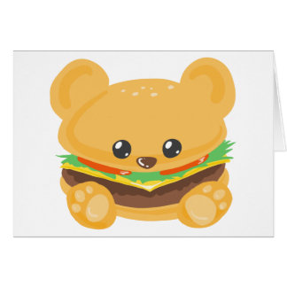Hamburger Bear Card