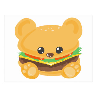 Hamburger Bear Postcard