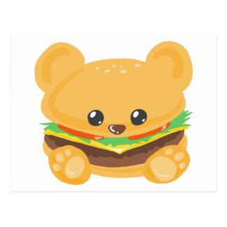 Hamburger Bear Postcard