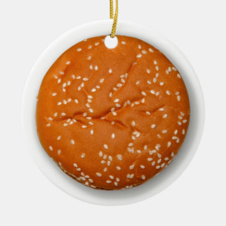 Hamburger Bun Christmas Ornament