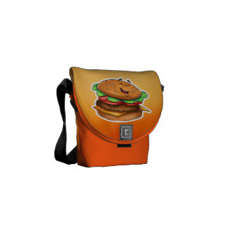 Hamburger cartoon bag commuter bags
