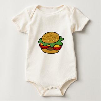 Hamburger Cartoon Drawing Baby Bodysuits