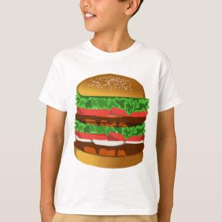 Hamburger design tee shirt