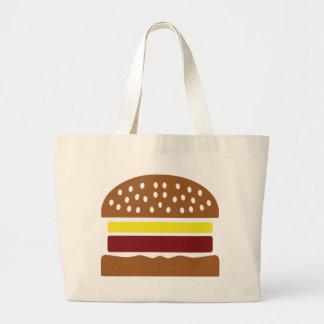 hamburger icon jumbo tote bag
